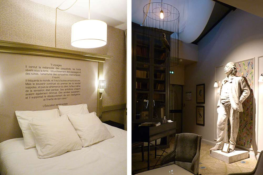 Chambre et petit salon, sous le signe de Gustave Flaubert