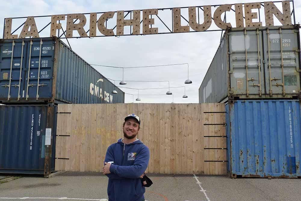 Antoine Finot, un des cofondateurs de la Friche Lucien
