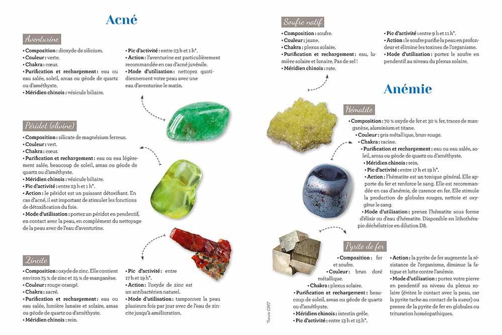 Les bienfaits des pierres sur l'Acné