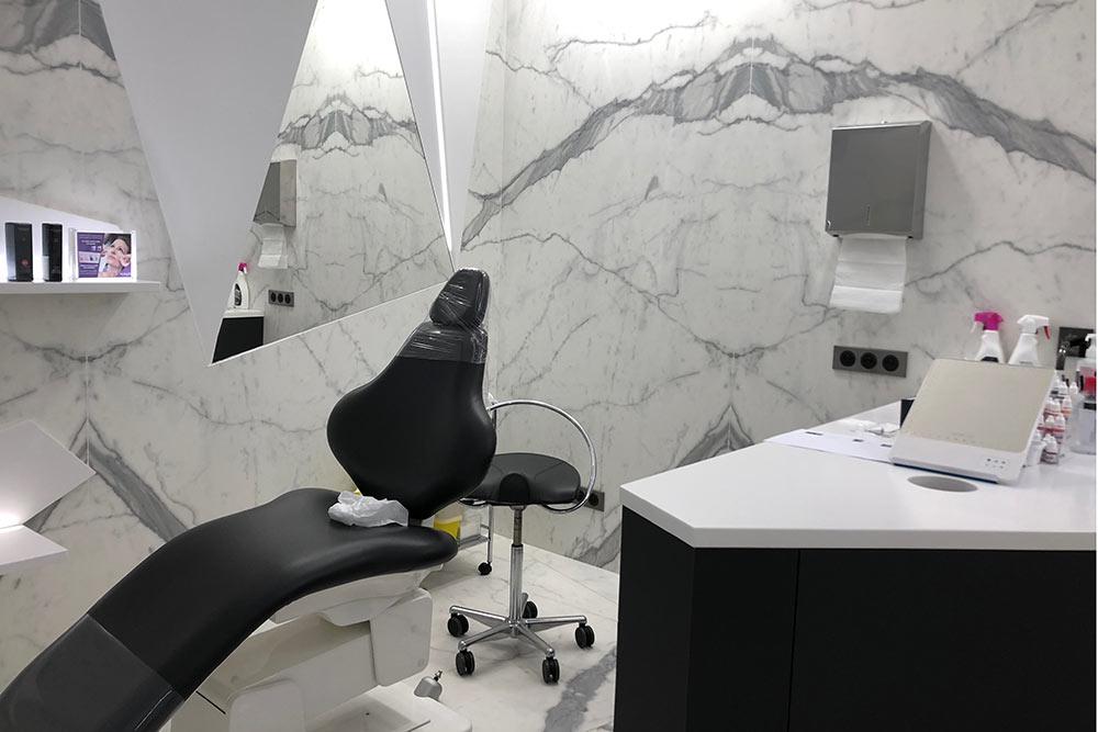 Une cabine du centre Dermo-Esthetic