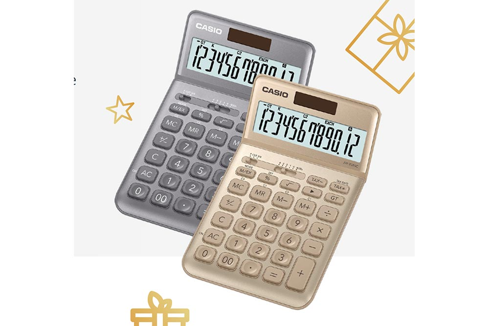 Calculatrices Casio - le modèle J W - 2 0 0 S C en habit de fête
