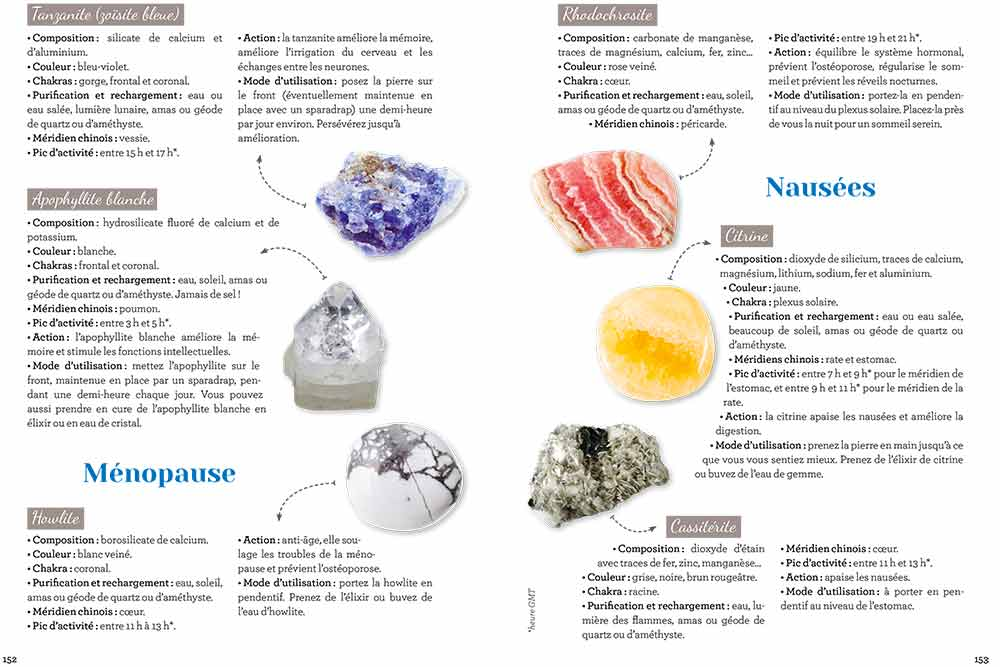 Les pierres qui traitent la ménopause