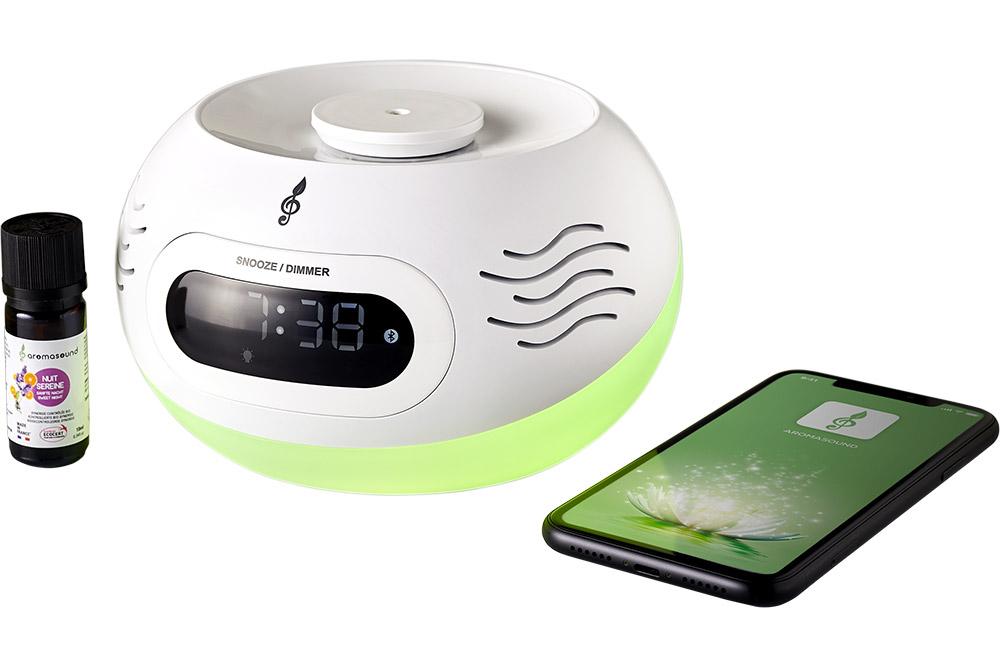 Kumo, est un réveil évolué qui se connecte au smartphone en Bluetooth pour diffuser de la musique.
