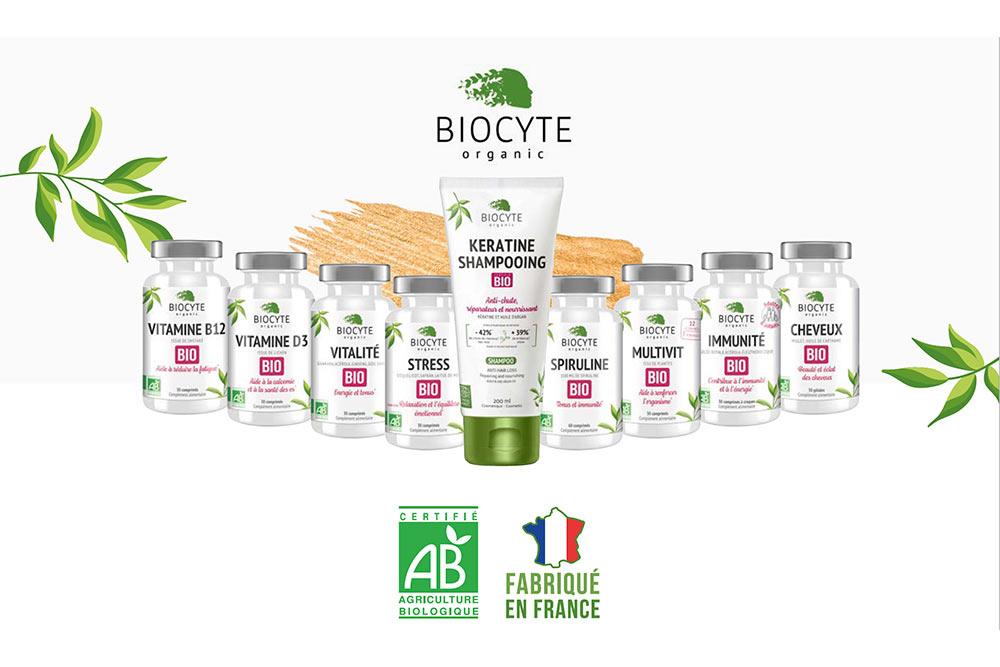 Nutricosmétique - La gamme 100% bio et Vegan du Laboratoire Biocyte