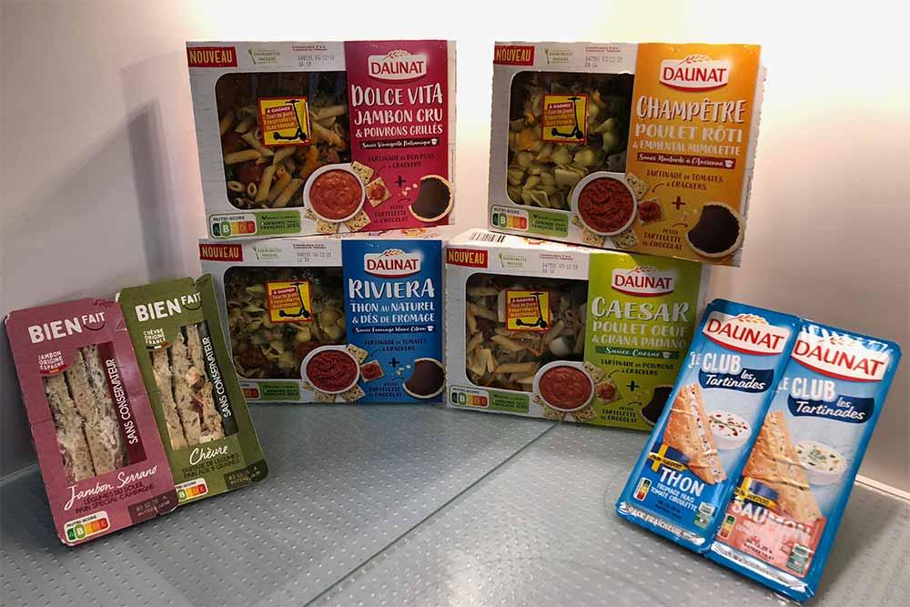 Daunat - et Bienfait : des salades et des Sandwichs à découvrir.