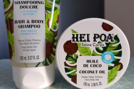 Hei Poa : deux soins corps et cheveux à la noix de coco bio