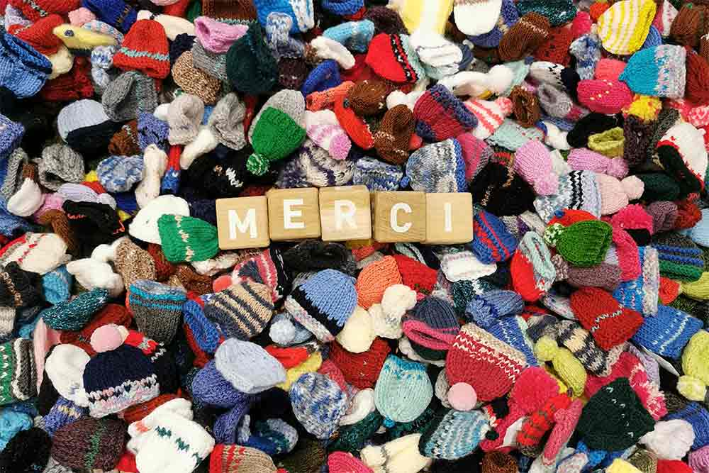 Un grand merci aux tricoteuses