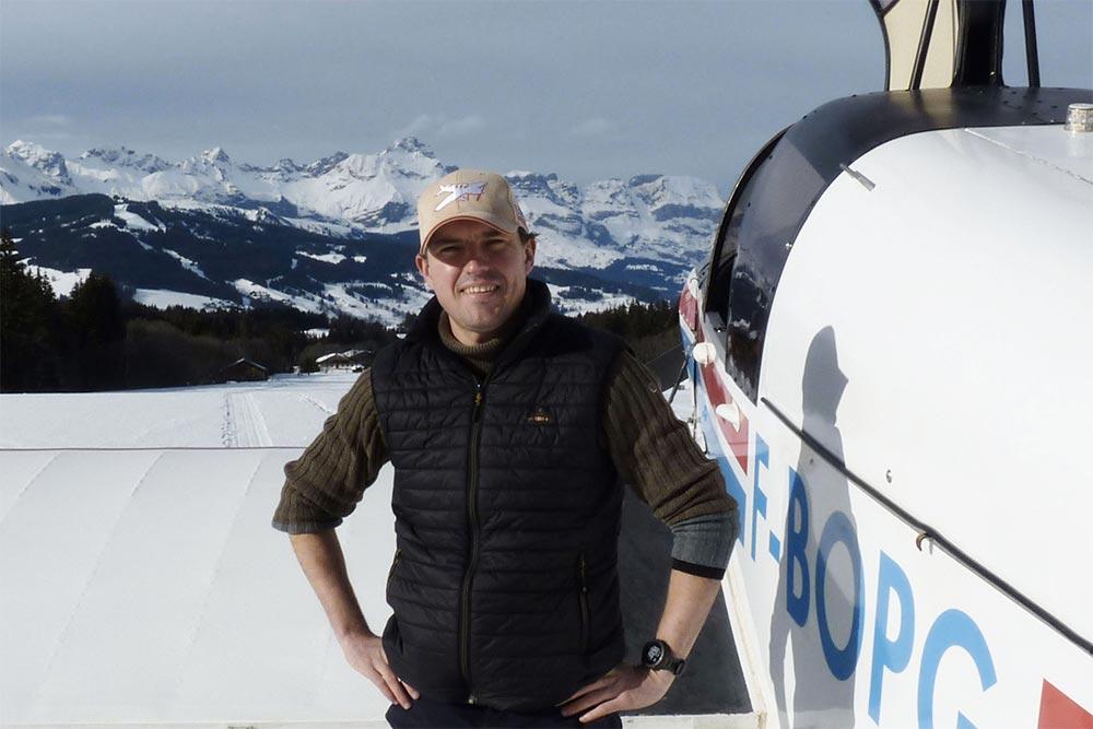 Bertrand, notre pilote: «Le Mont Blanc est mon jardin, l'avion est mon bureau…»