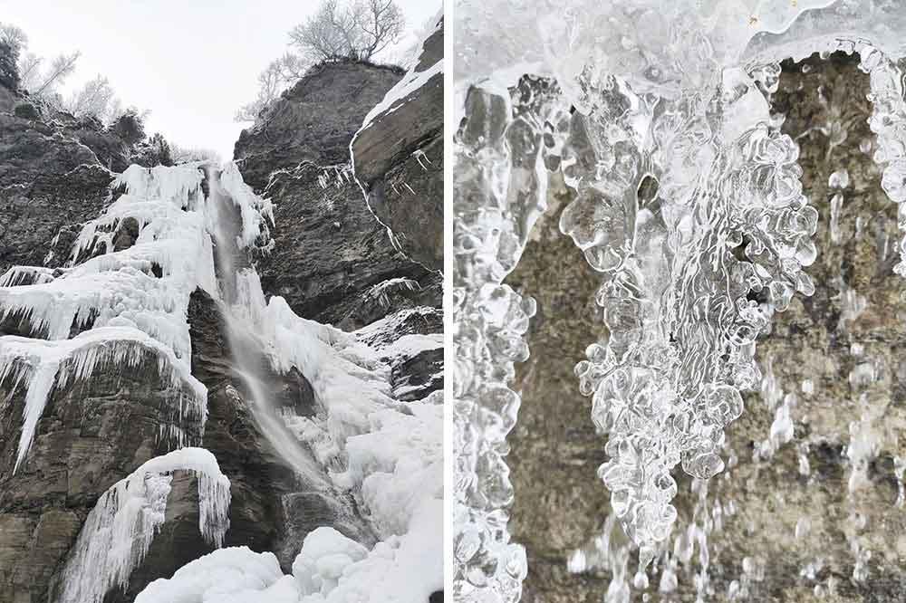Mégève - La cascade de glace et ses dentelles…
