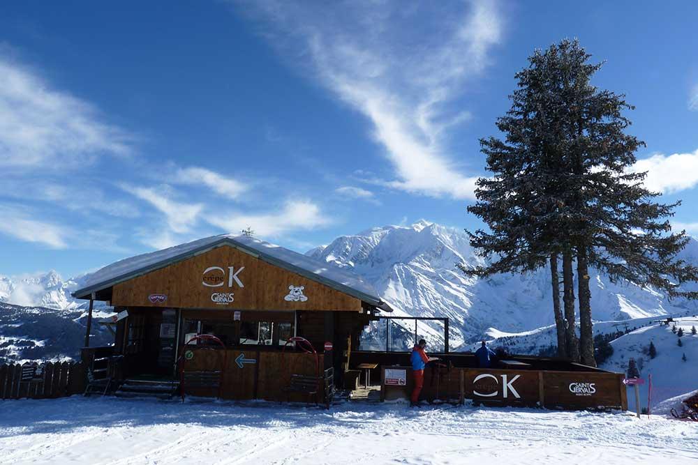 OK Crêpe avec sa vue sur le Mont-Blanc