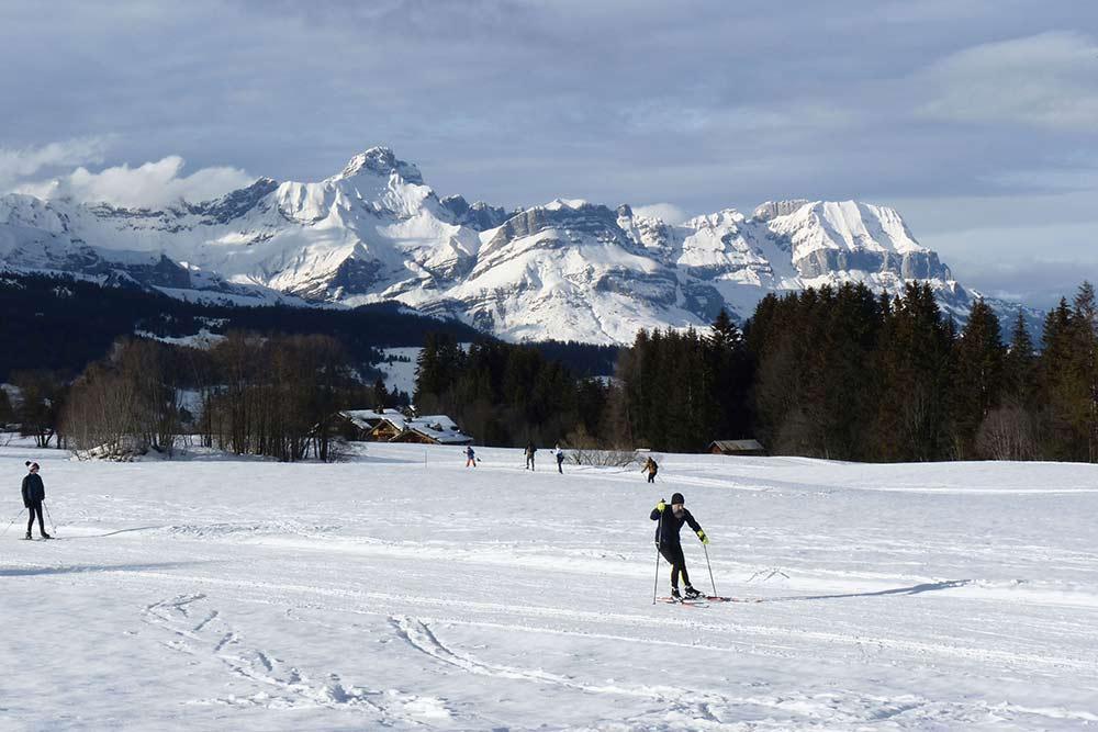 Mégève - Skieurs de fond en 2021