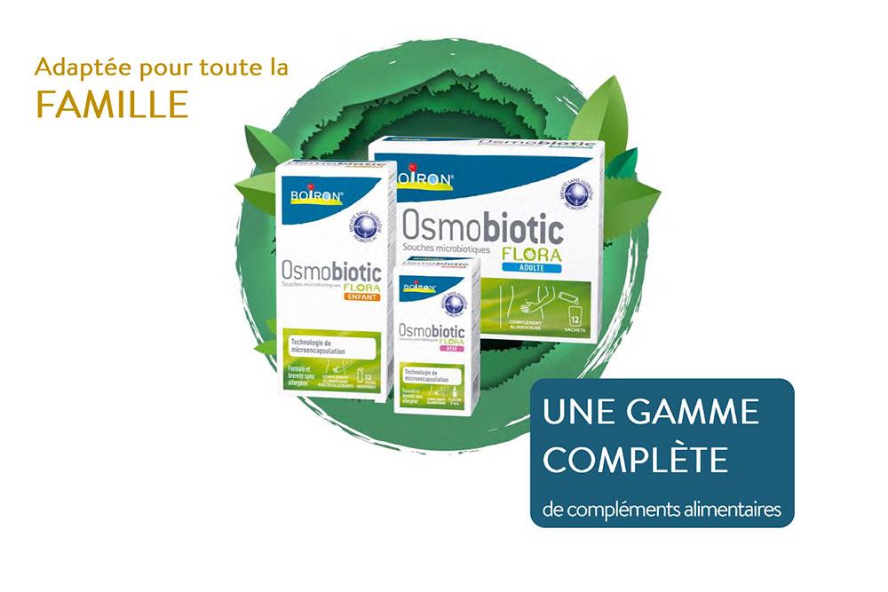 Osmobiotic Flora - une gamme de pro biotiques bon pour vos intestins