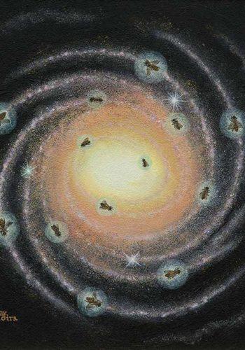 Un magnifique dessin qui illustre les abeilles