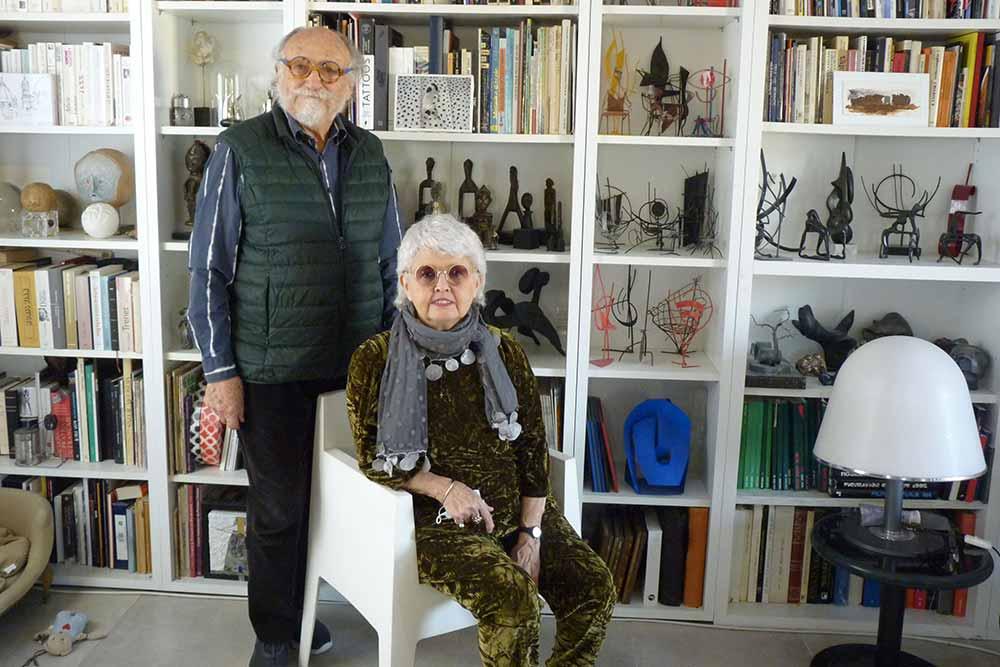 Ciris Vell et Henri-François Dumont dans leur séjour