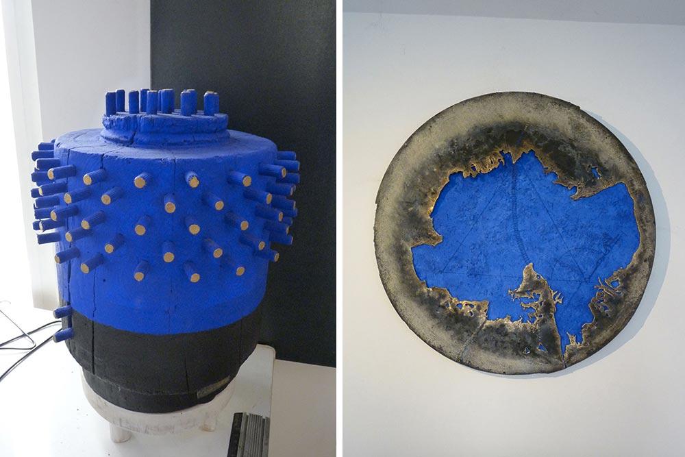 Sculpture et peinture avec métal de Ciris Vell