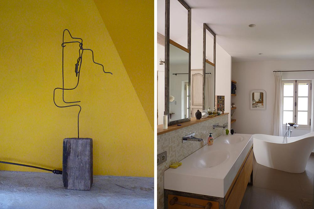 Sculpture et salle de bain: une même contemporanéité