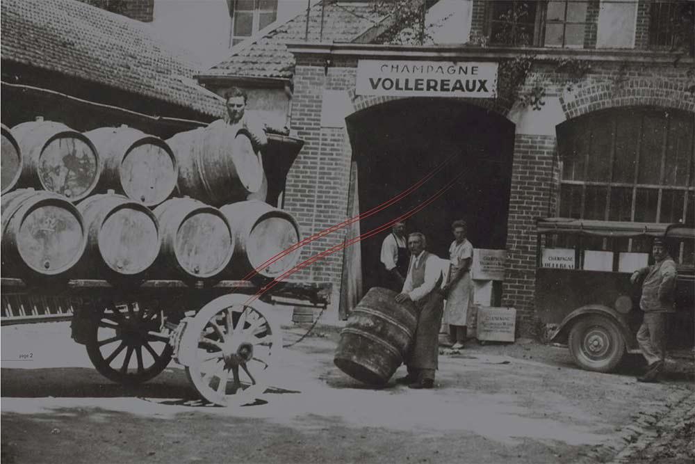 Famille Vollereaux à la création du vignoble