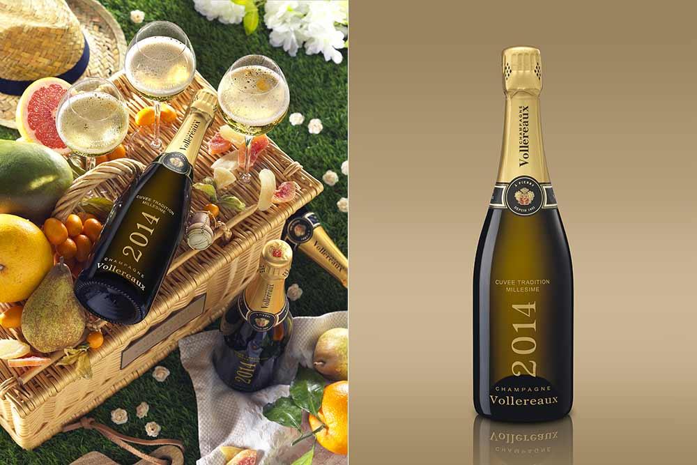 Bouteille de champagne Vollereaux