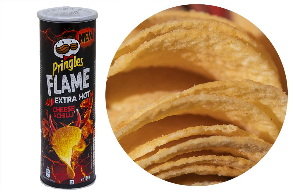 EXTRA HOT Cheese et Chili Pringles Flame