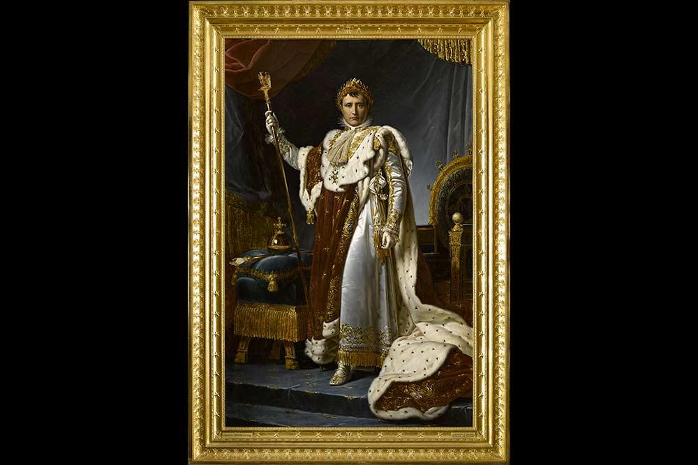 F. Gérard, Napoléon en costume du sacre, , musée du Louvre, © Rmn-Grand Palais/Franck Raux