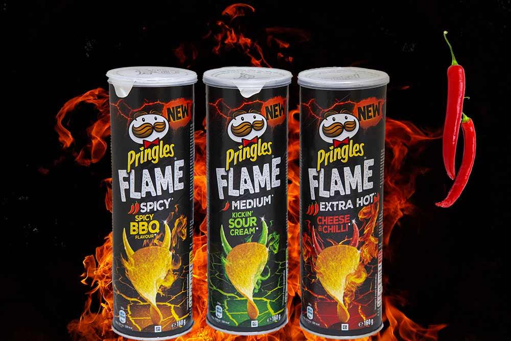 Les Pringles Flame : des tuiles pimentées qui mettent le feu à la bouche