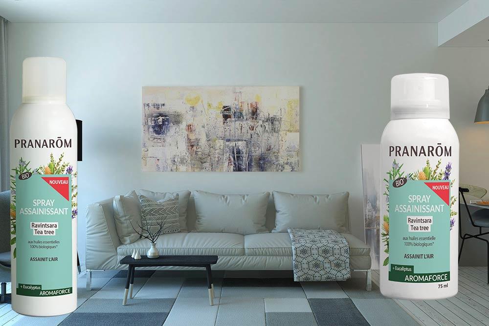 Spray assainissant pour la maison aux huiles essentielles