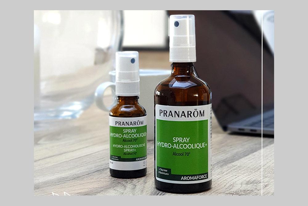 Pouvoir antiviral - des sprays hydro-alcoolique