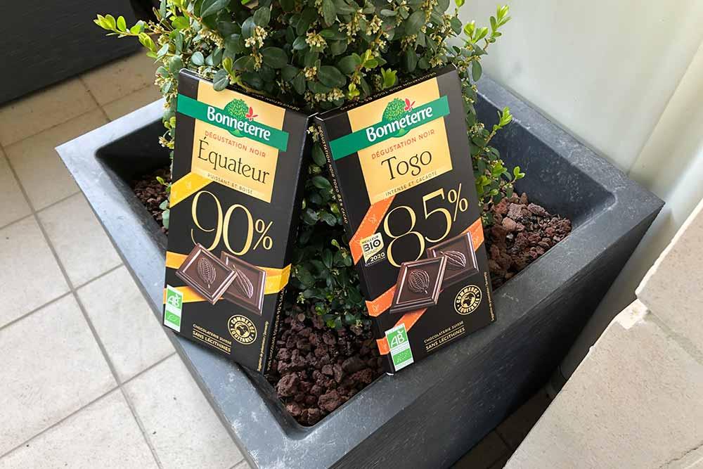Tablettes de chocolat - Equateur et Togo