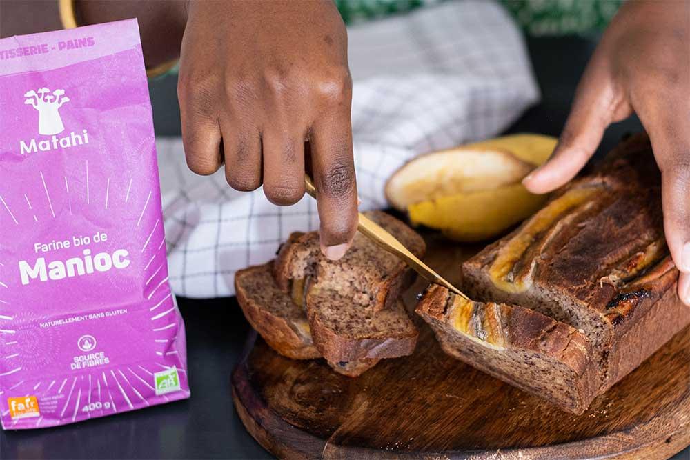Un excellent gâteau à la farine de manioc
