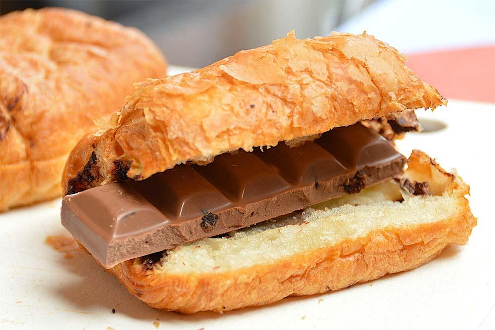 Croissants avec du Chocolat