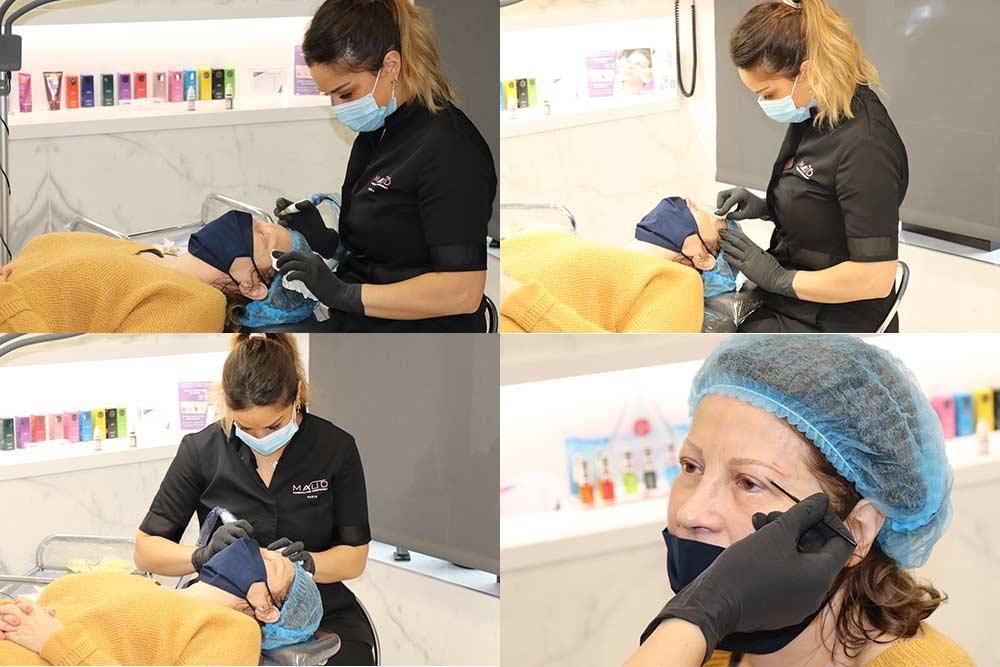 anale pratique le maquillage permanent de la première séance