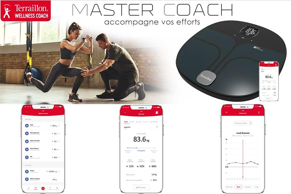 Terraillon Master Coach - une balance Wi Fi pour un coaching minceur intelligent