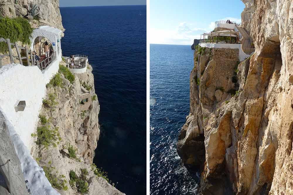 Minorque - La Cova d'en Xoroi et ses terrasses aériennes