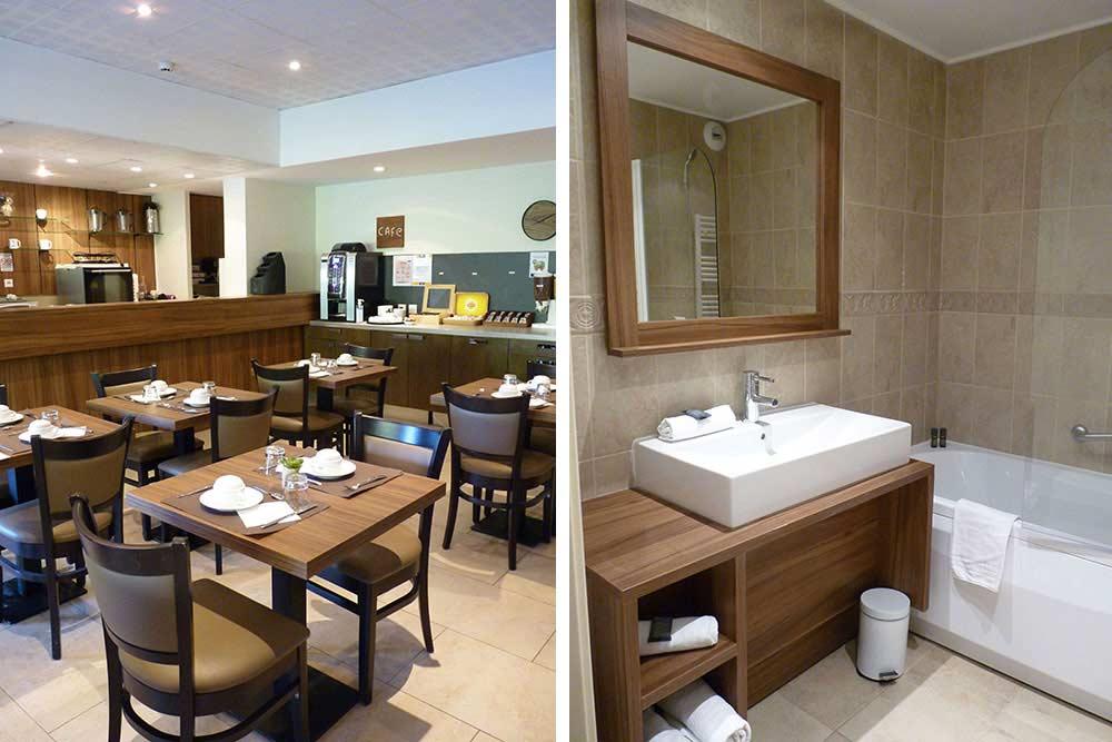 Salle à manger du rez-de-chaussée et salle de bain