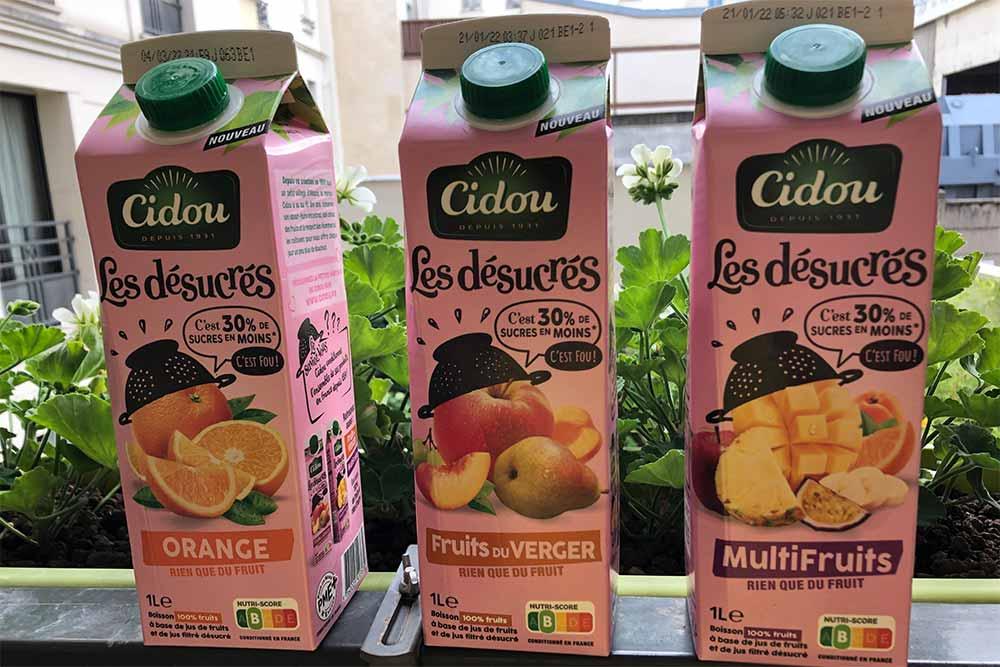 Cidou Orange, Fruits du Verger et Multifruits