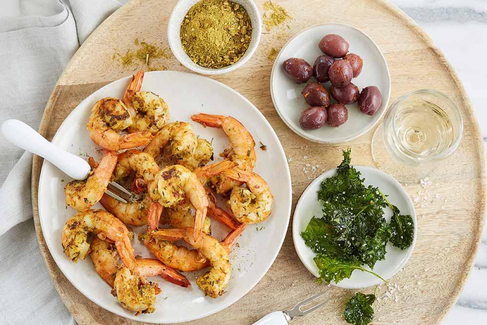 Crevettes avec mix épices spécial poisson