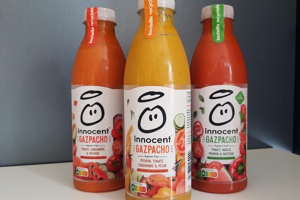 Innocent : des légumes frais et une touche de fruits pour les gazpachos