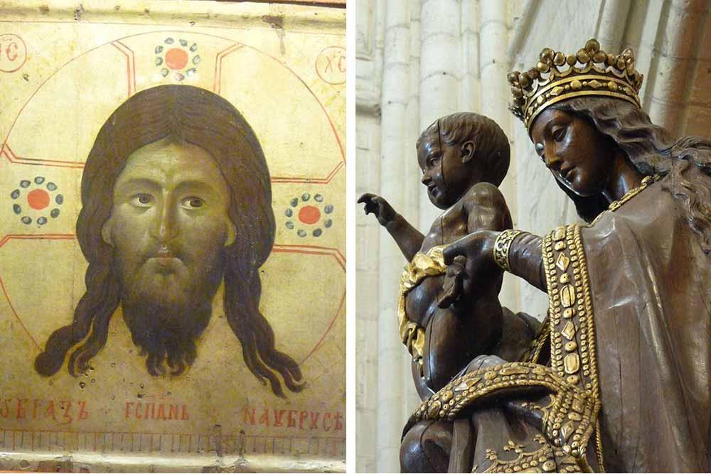 Icône de la sainte face et Vierge avec l'enfant Jésus (Cathédrale de Laon)