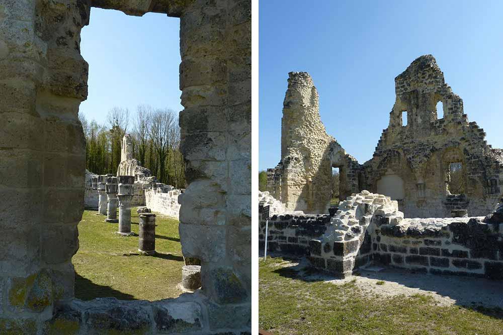 Les ruines de l'abbaye.