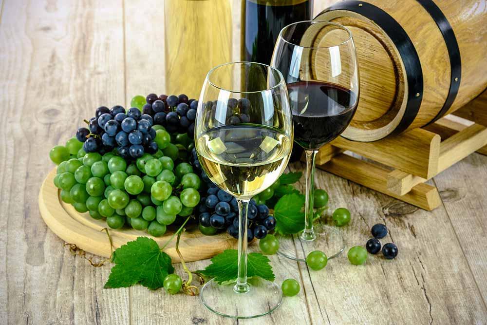 Vin - blanc et vin rouge