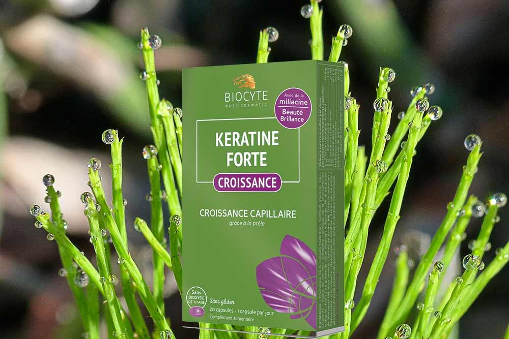 Kératine Forte Croissance grâce à la prêle