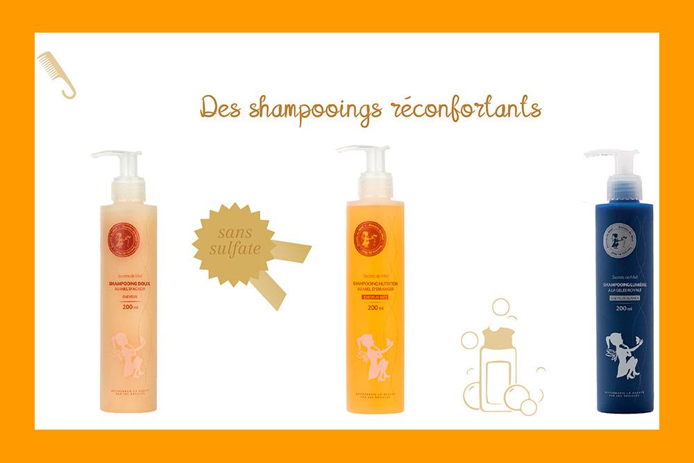 Des shampooings doux pour vos cheveux