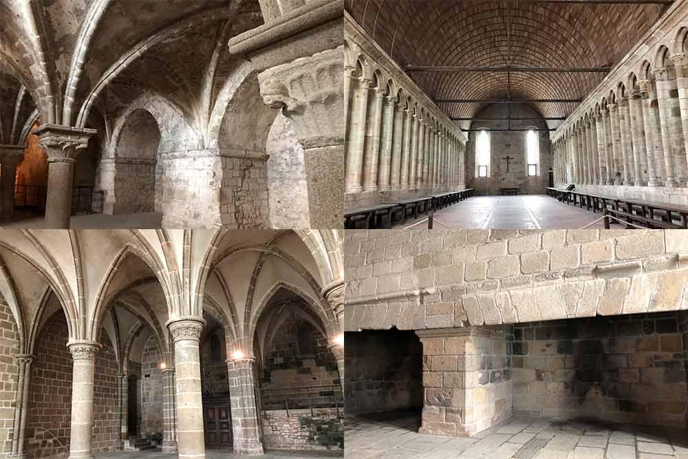 Des salles magnifiques et deux immenses cheminées