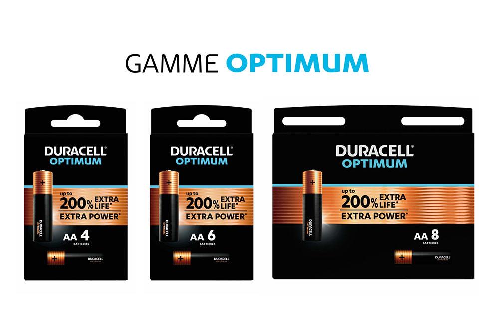 Duracell Optimum - des piles nouvelle génération qui durent 200 fois plus longtemps