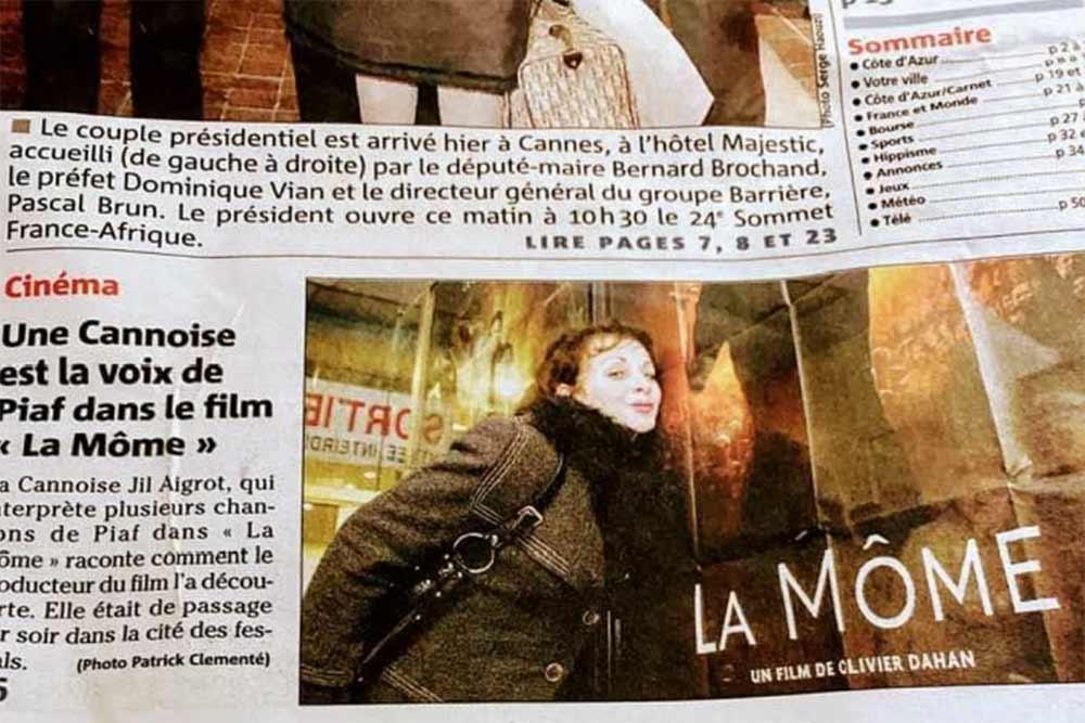"""Jil Aigrot, la voix de Piaf dans le film """"La môme"""""""