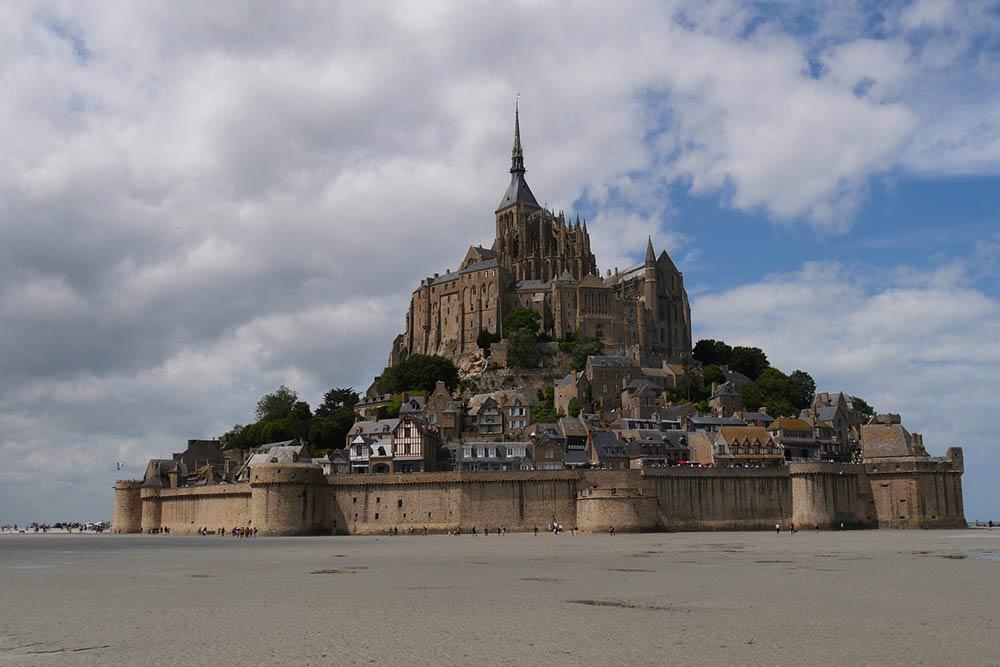 Le Mont-Saint-Michel - à marée basse
