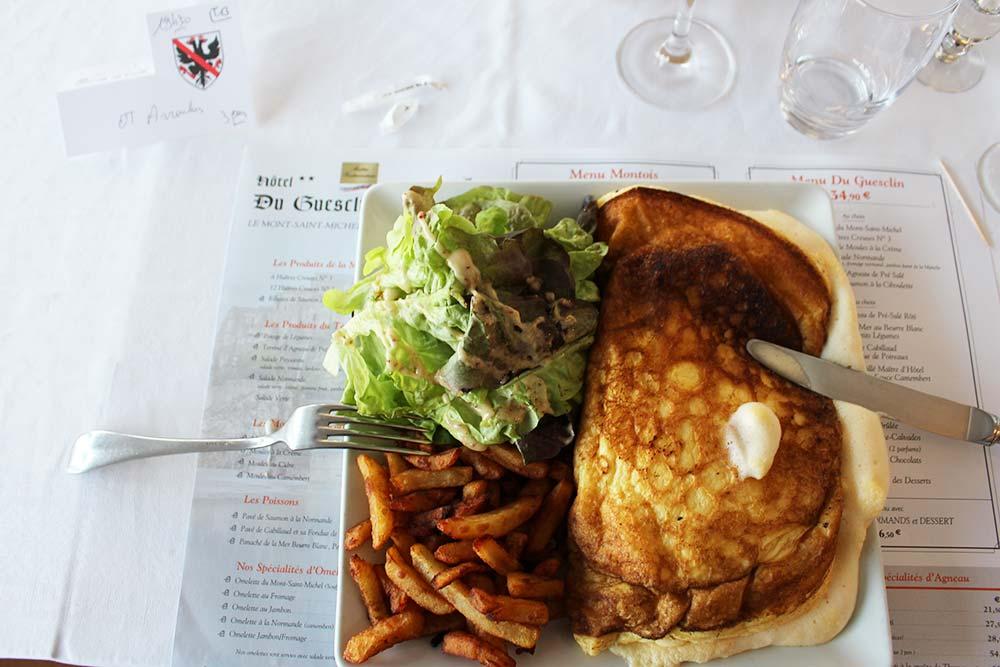 Omelette du Mont-Saint-Michel soufflée