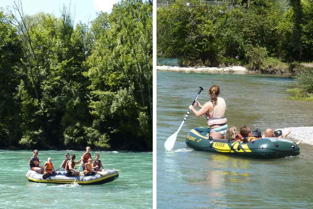 Rafting en famille avec grands et petits enfants…