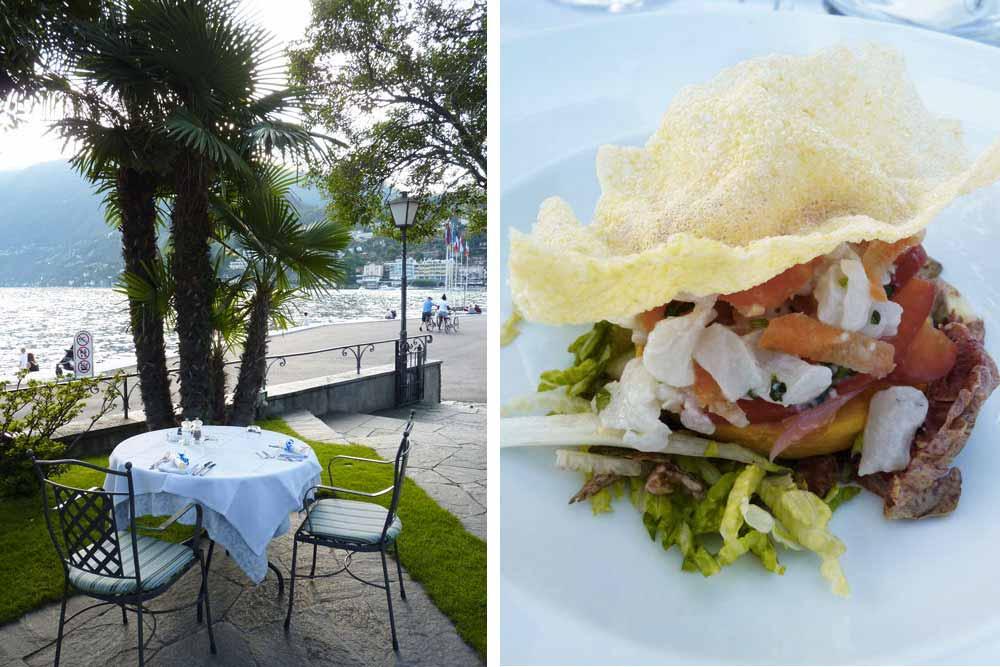 Table et ceviche (restaurant Castello Seeschloss)