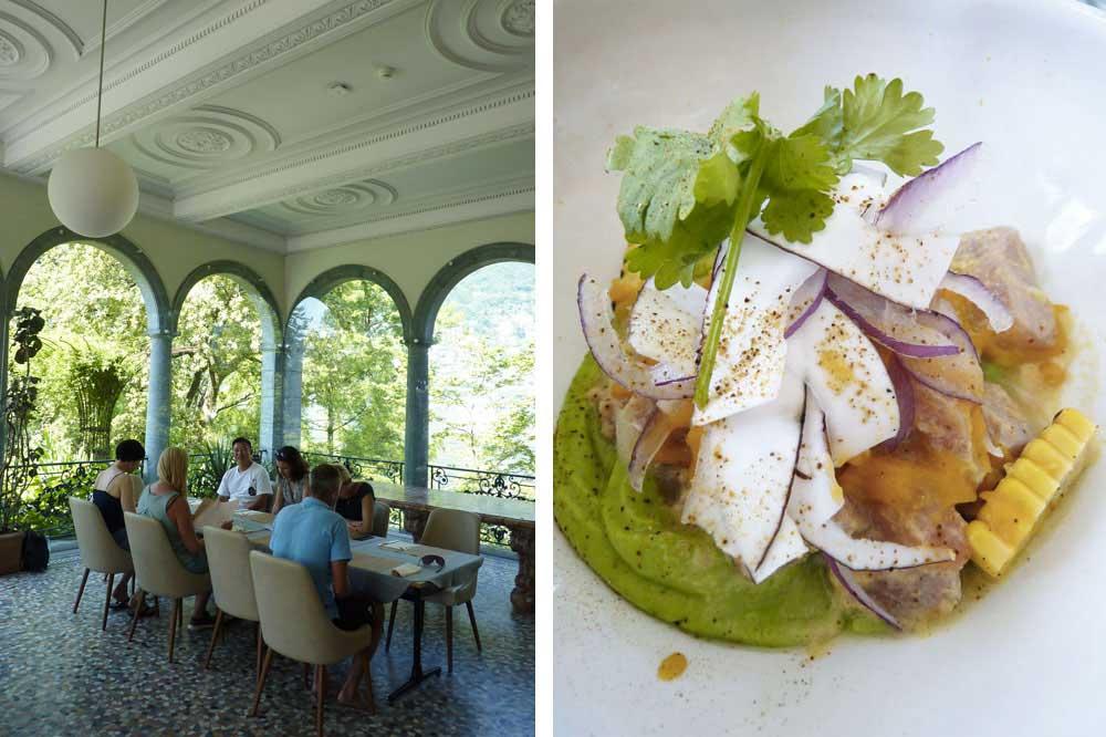 Table et plat de poisson (Villa Emden)